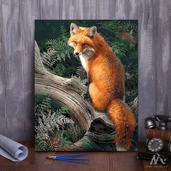 """DIY Painting By Numbers Fox (16""""x20"""" / 40x50cm) Diy"""