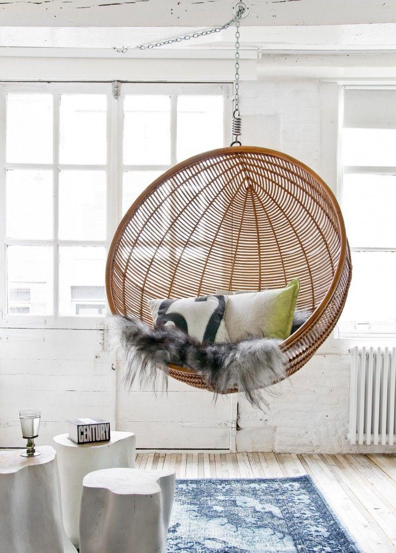 hamac chaise et fauteuil suspendu–idées extérieur et intérieur