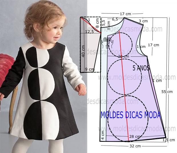 Molde Vestido Com Bolas 5 Anos 27 Moldes Dicas Moda Molde De Roupa Infantil Padrões De Costura Para Vestido Costura Fashion