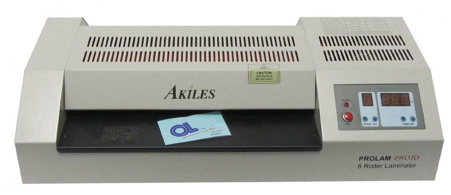 Akiles Pro Lam Photo 13 6 Roller Hot Cold Pouch Laminator Laminating Machine 110 Volt Laminators Roller Cold