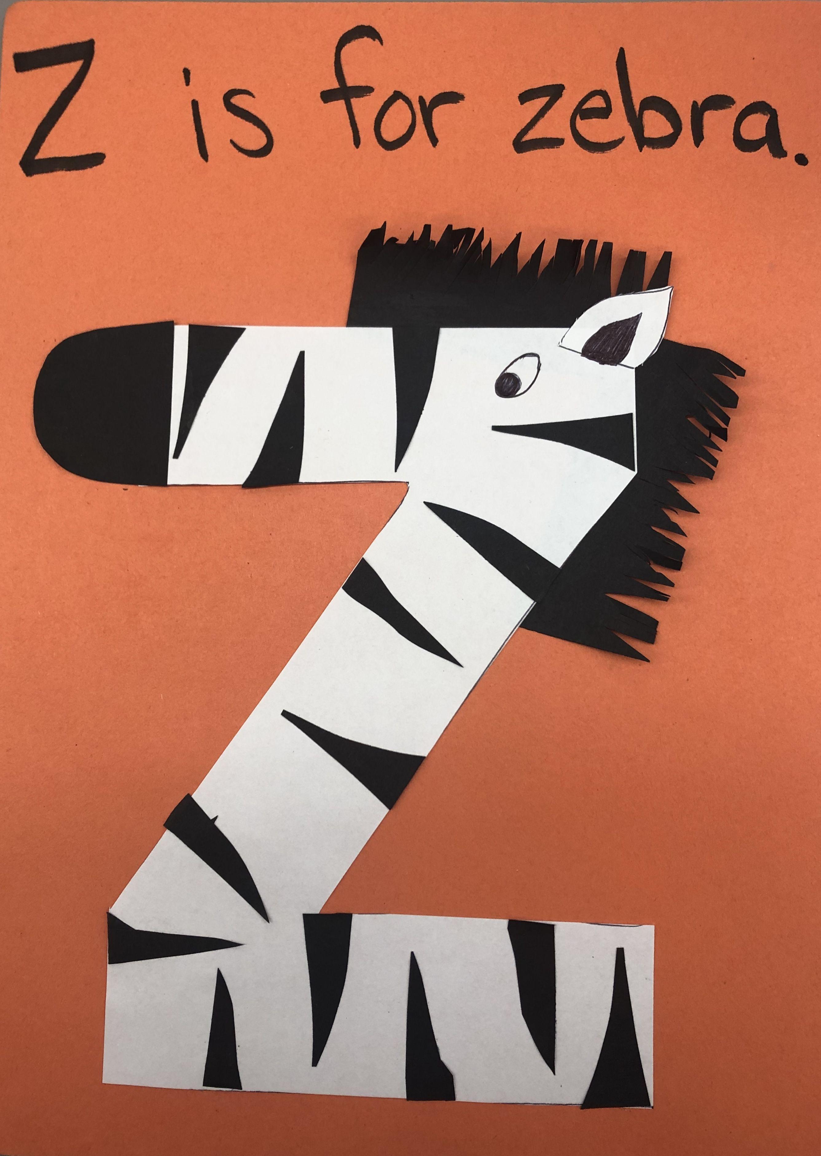 Preschool Letter Of The Week Craft Letter Z Zebra Made