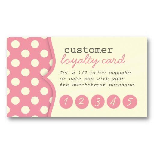 Cute Polka Dots Customer Loyalty Business Card Cute Business Cards Customer Loyalty Cards Card Template