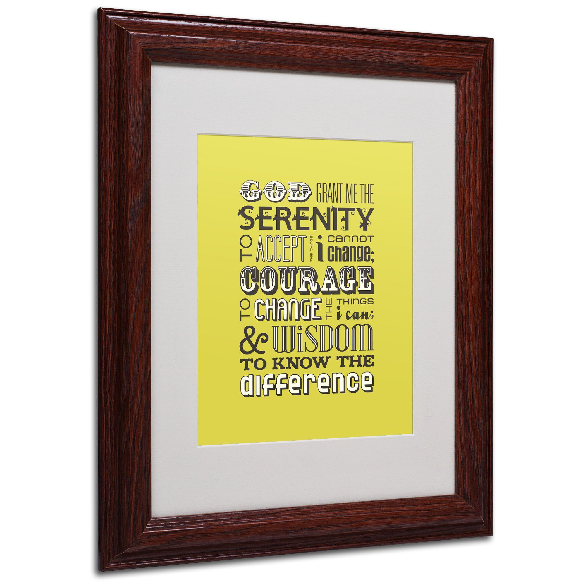 Serenity Prayer by Megan Romo Matted Framed Textual Art | Products
