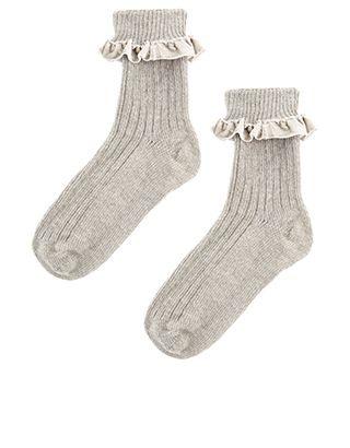 Our cosy ribbed socks are decorated with velvet frills – perfect for  wearing with trainers and 4c6003deddfce