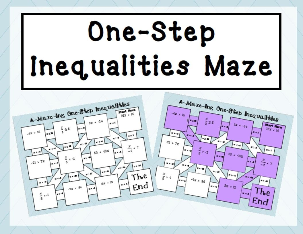 One Step Inequalities Maze Multiplication And Division