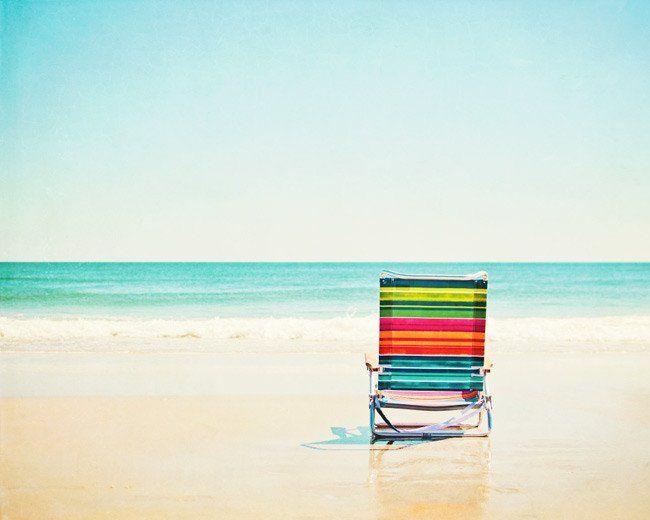 Beach Chair Beach Photography Beach Canvas Art Beach Canvas