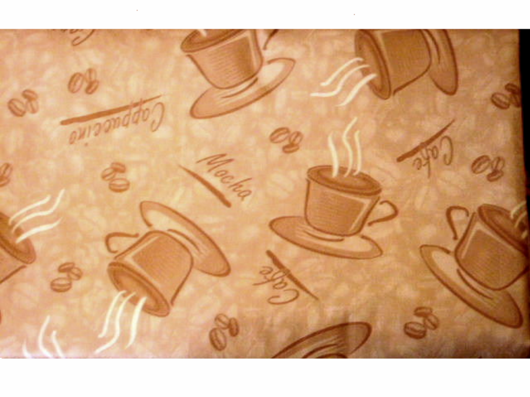 Nice This Coffee Themed Tablecloth Features The Words Cappuccino, Mocha, Cafe  And Coffee Beans In Light Brown On A Beige Background.