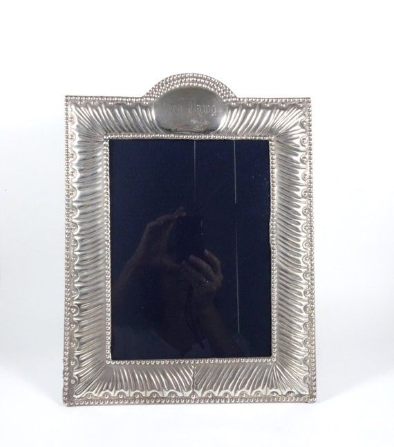 Antiques Art Deco Sterling Silver Photograph Frame Antique George V Decorative Arts