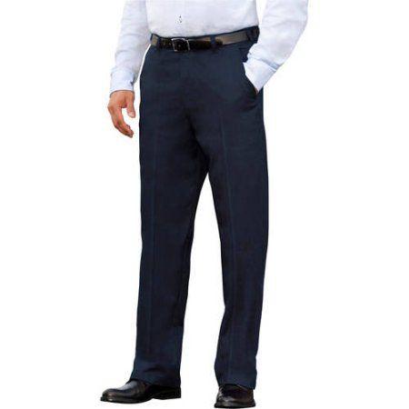 George Men's Flat-Front Wrinkle-Resistant Pants, Size: 36 x 29 ...