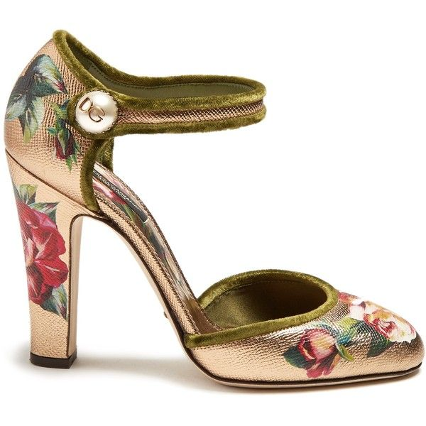 Dolce & Gabbana Floral Print Leather Pumps wiki amazon for sale NfyTRLc8