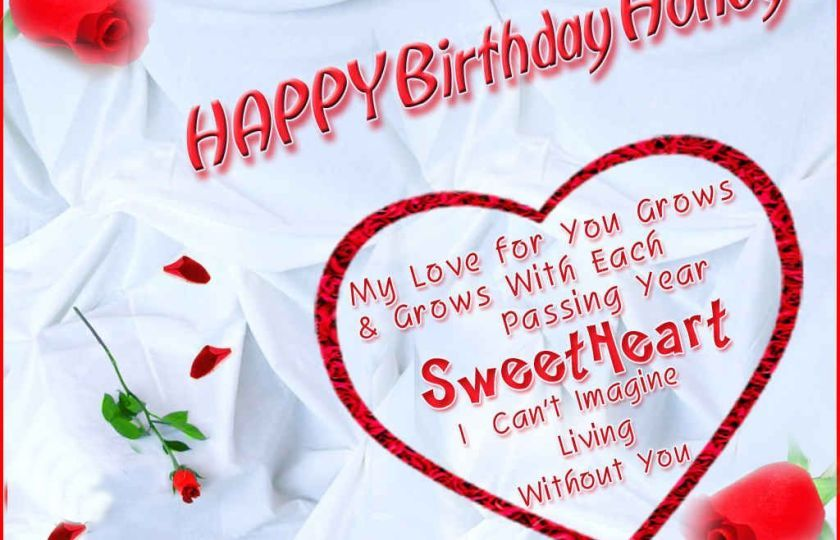 Birthday Card Messages With Love Happy Birthday Honey
