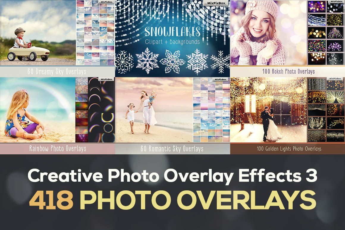 SHARE IT If you're looking for some creative & unique effects for your photos or photo manipulations or need something fresh in your photo effects library, then this bundle is just the thing you're looking for. We're trying to get the best & unique deals on the market, and this is one of them. Creative Photo Overlay Effects 3 by MixPixBox contains …