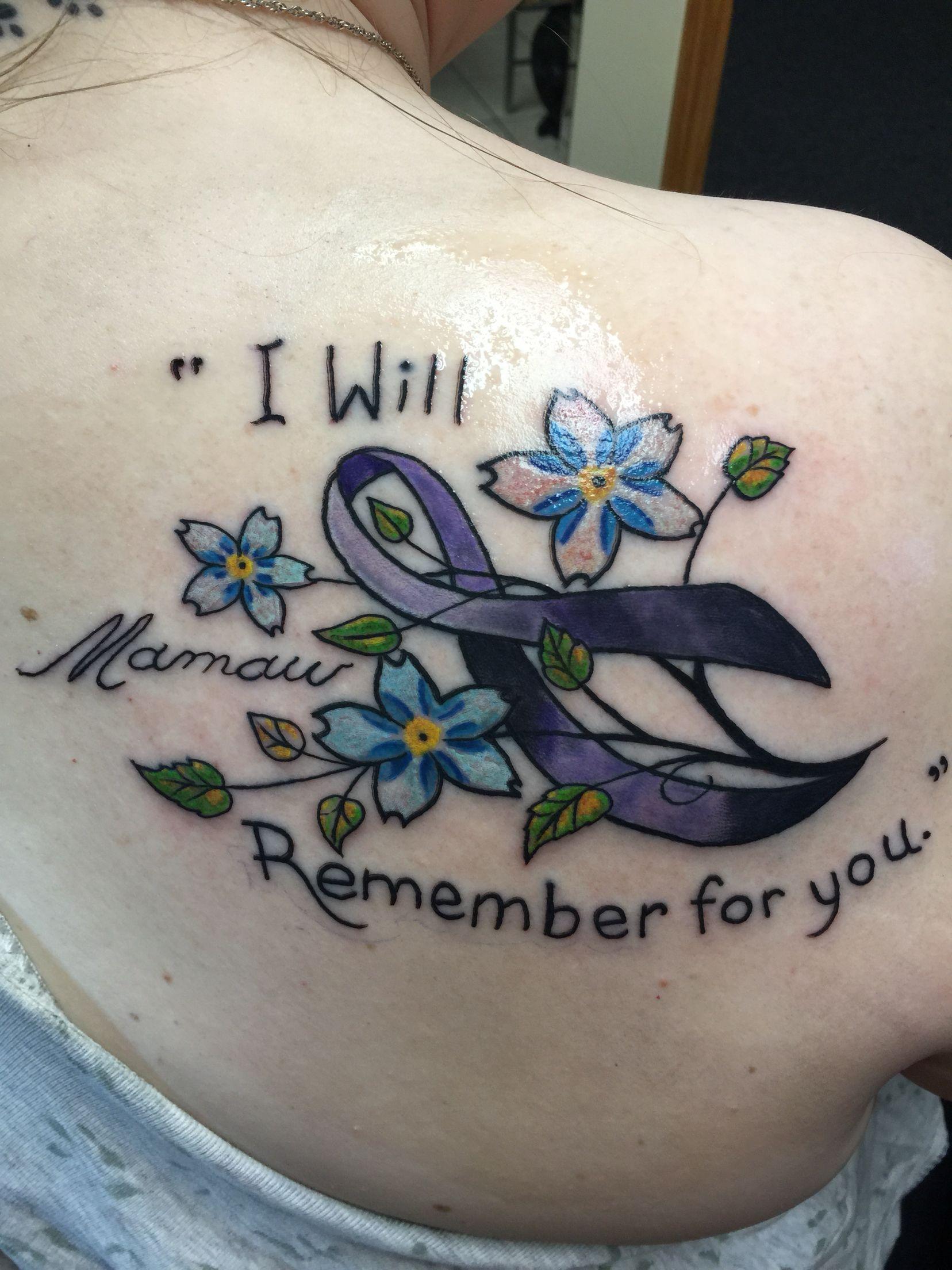 f437bd5bbe9c4 My Alzheimer's tattoo! | tattoo ideas | Alzheimers tattoo ...