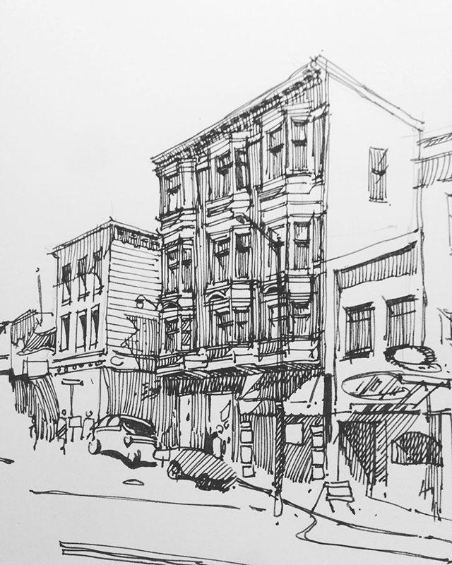 Inktober Inktober2015 Sketch Drawing Draw Art Architecture Moleskine Mymoleskine Urbansketch Urbansketchers Sketchbook Sketching Rotring Ink