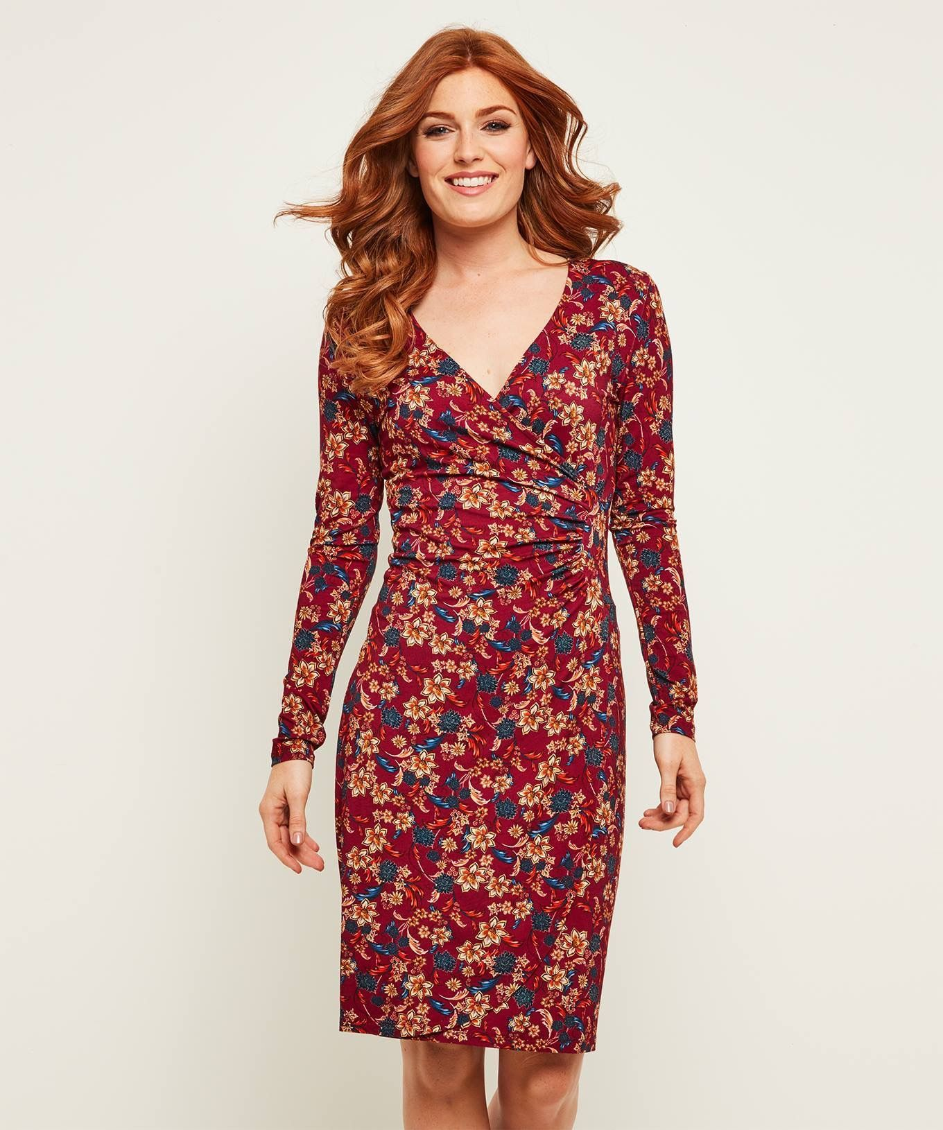 3a594bd5748 ... Dress Our best-selling dress is back in a rich and beautiful floral  print. With flattering waist gathering and a mock wrap design