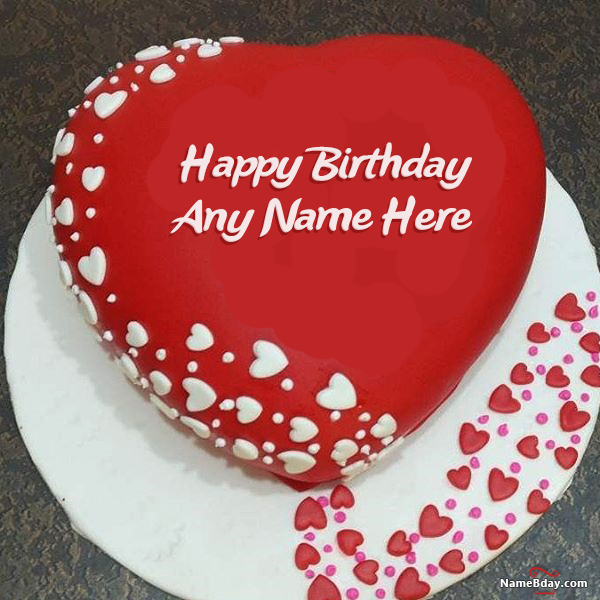 Too Romantic Birthday Cake For Wife With Name And Photo Cake In