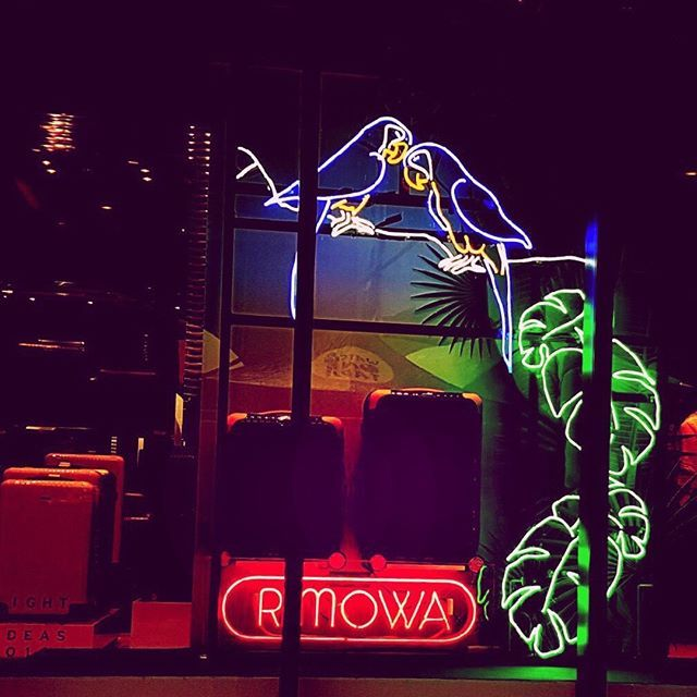 WEBSTA @ rimowa_official - Welcome to the #neon jungle! The RIMOWA Store #Sidney's contribution to the #festival of light, music and ideas @vividsydney. #rimowa_official #RimowaBossaNova #australia