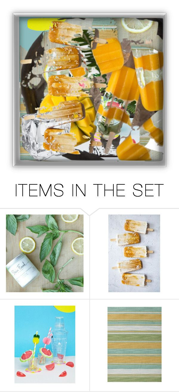 """""""Mango and Peach"""" by alexxandrat ❤ liked on Polyvore featuring art"""
