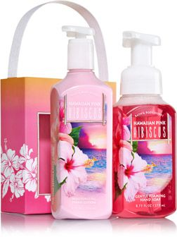 Hawaiian Pink Hibiscus Happy Hands Gift Set Signature Collection