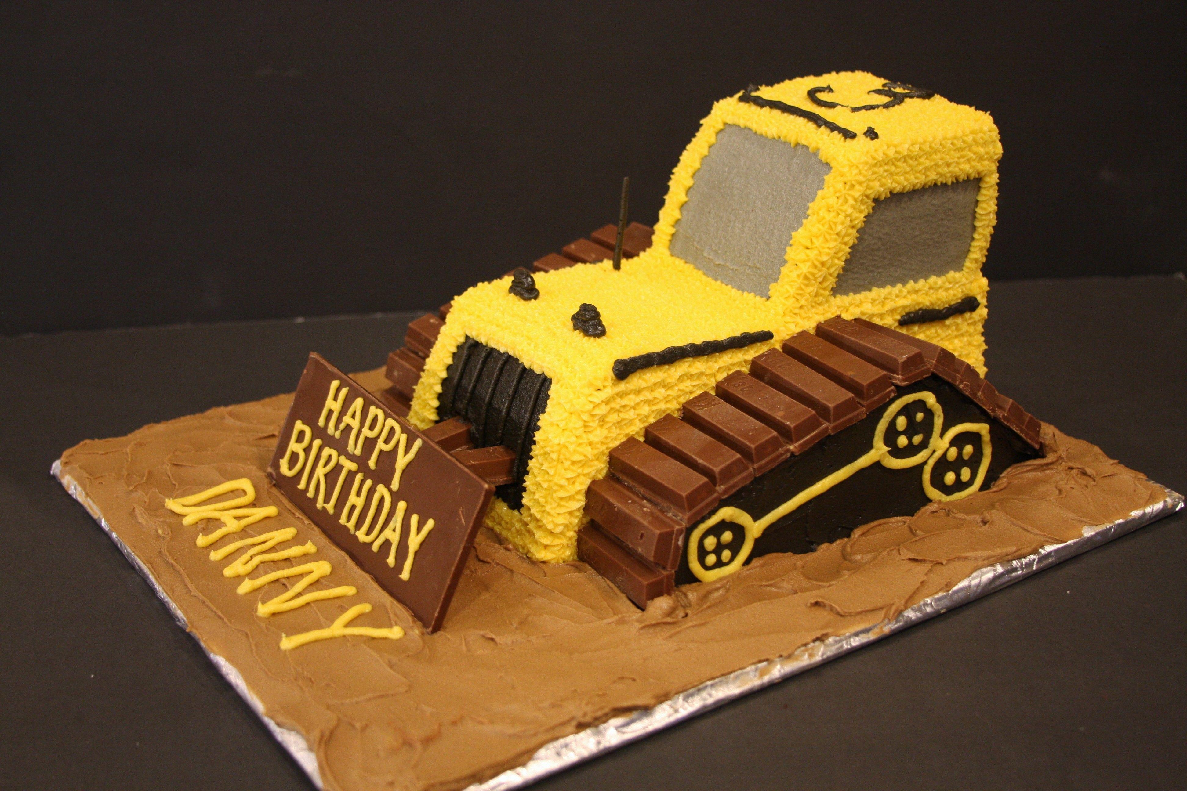 Bulldozer Cake For My Grandsons 3rd Birthday He Loves Anything