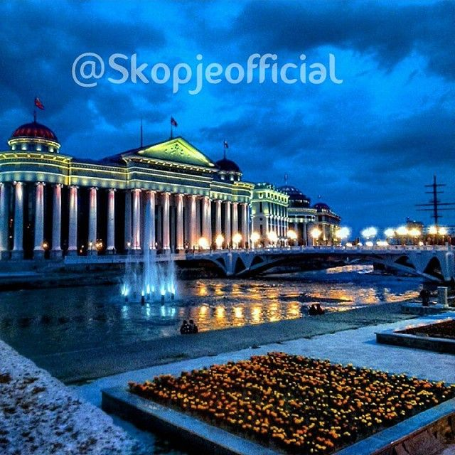 """TAG YOUR FRIEND #Skopjecity #GoodnightMacedonia #Skopjeofficial"""