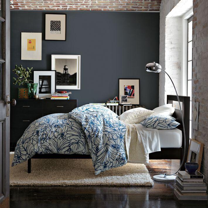 Bello Rug From West Elm Room Scene: West Elm Simple Bed Frame - Chocolate