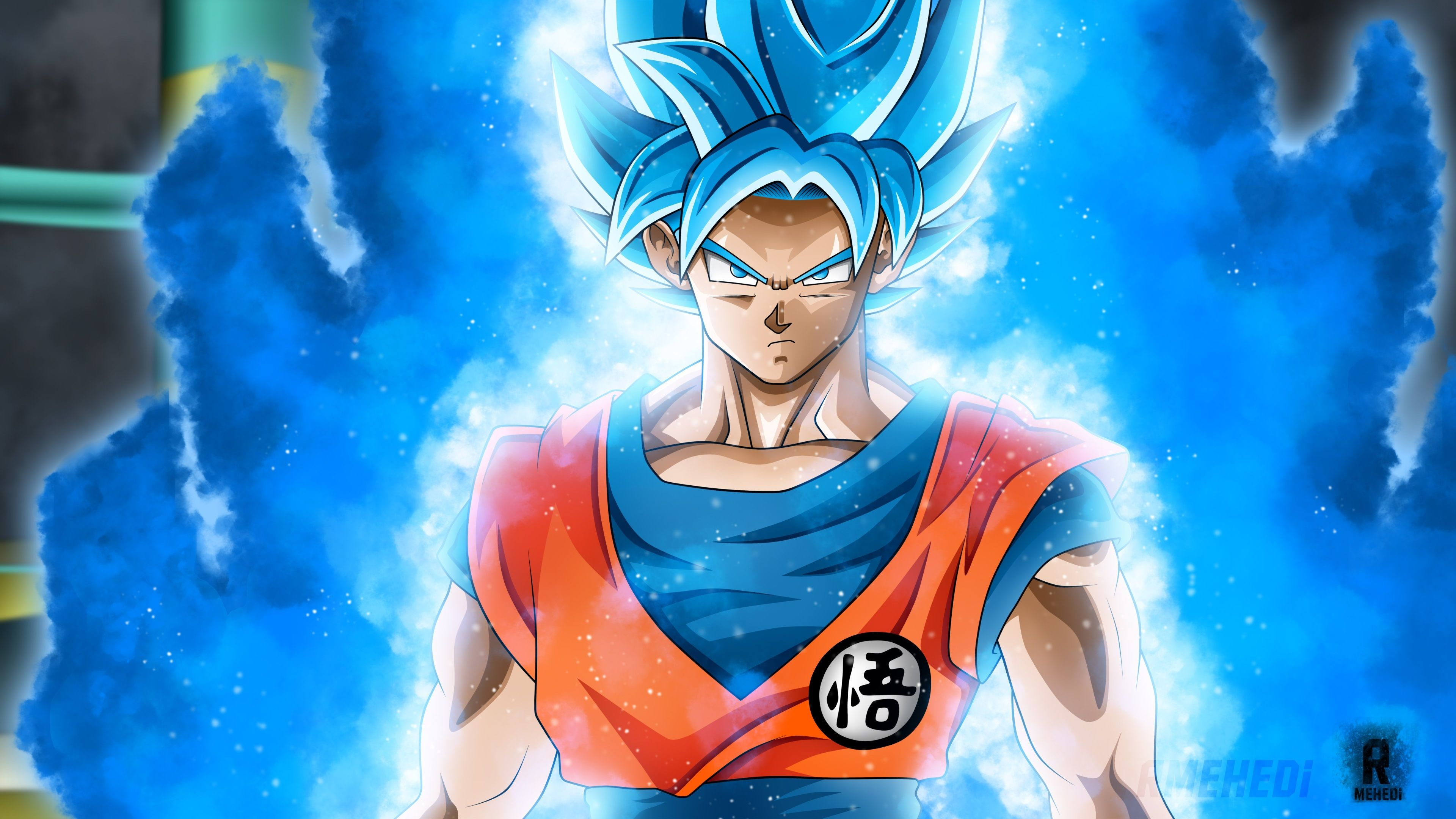 3840x2160 Goku 4k Wallpaper For Desktop Background Goku Wallpaper Goku Super Saiyan Blue Dragon Ball Super Goku