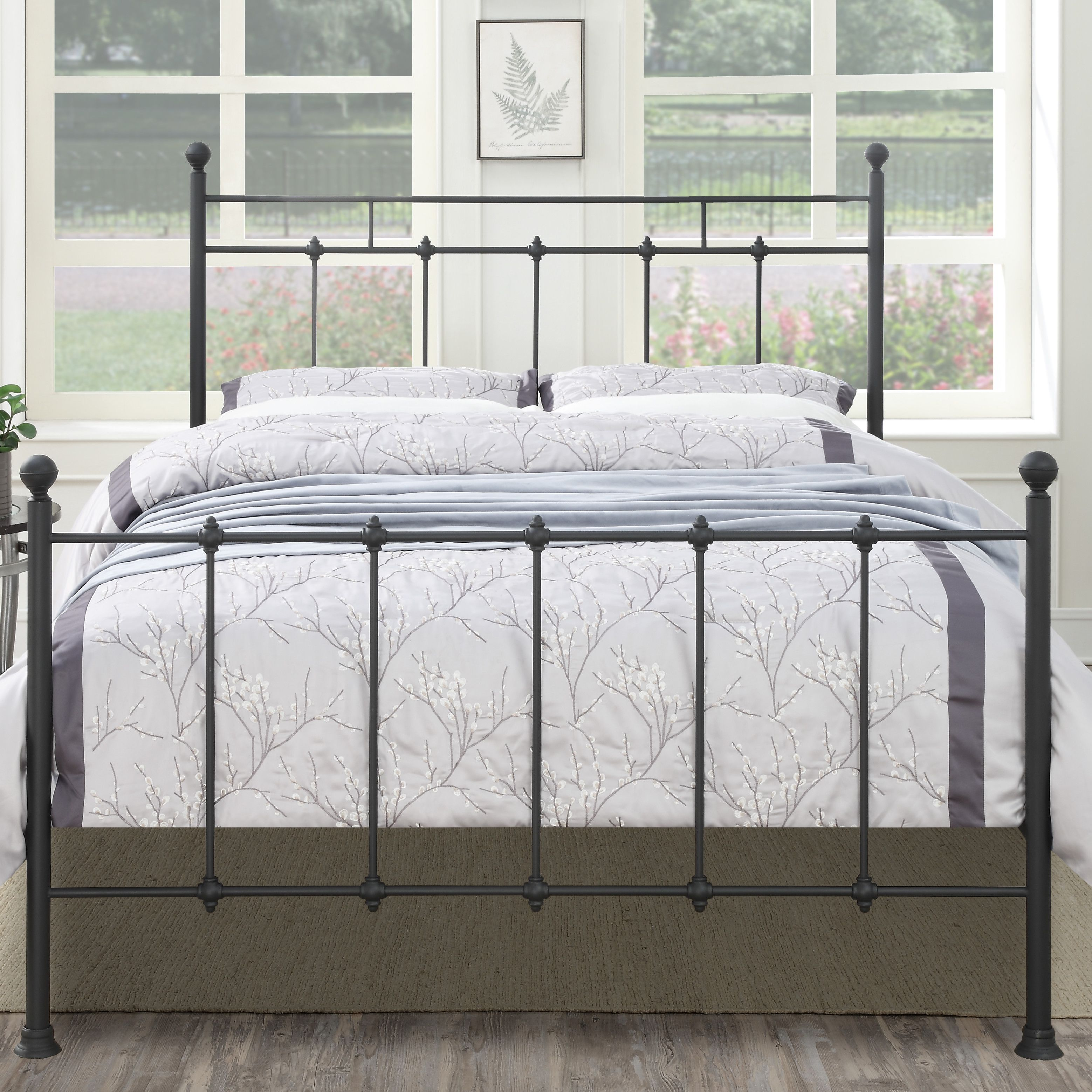 Forreston Four Poster Bed Queen metal bed, Metal beds, Bed
