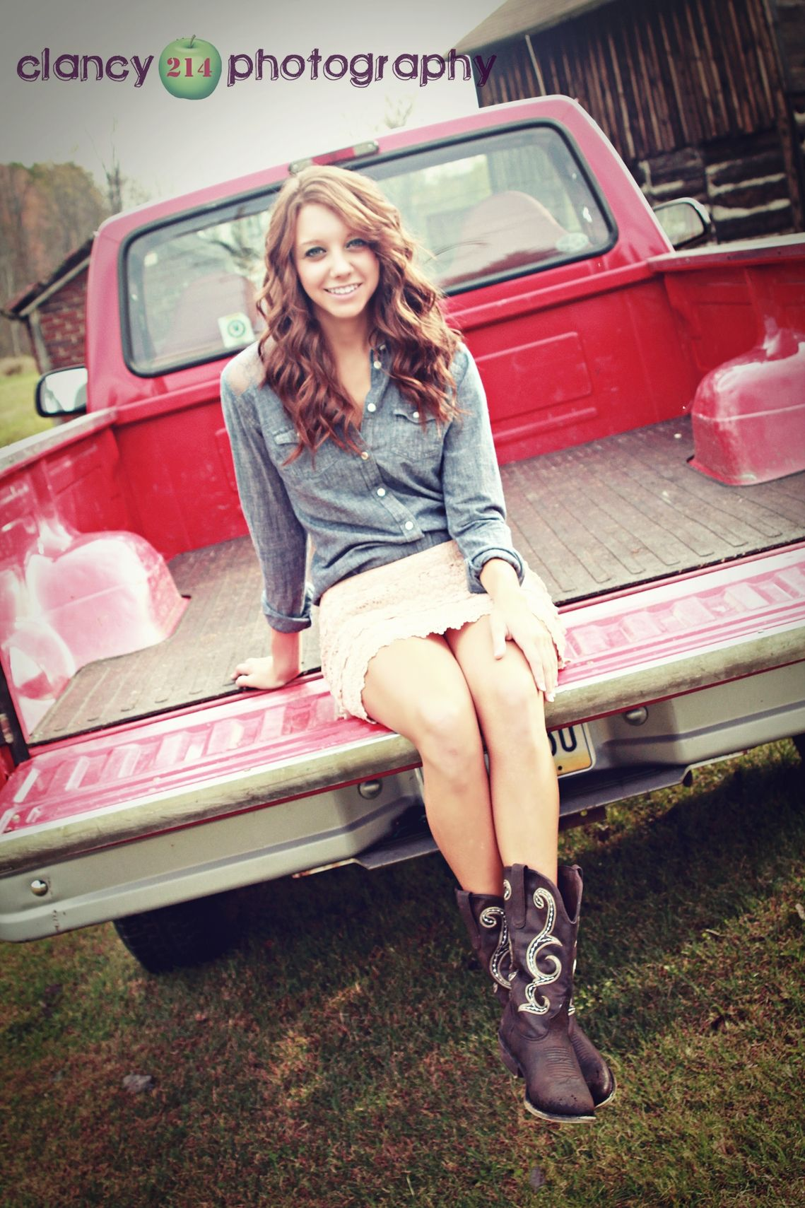 cowboy boots pickup truck barn and this girl rocking her