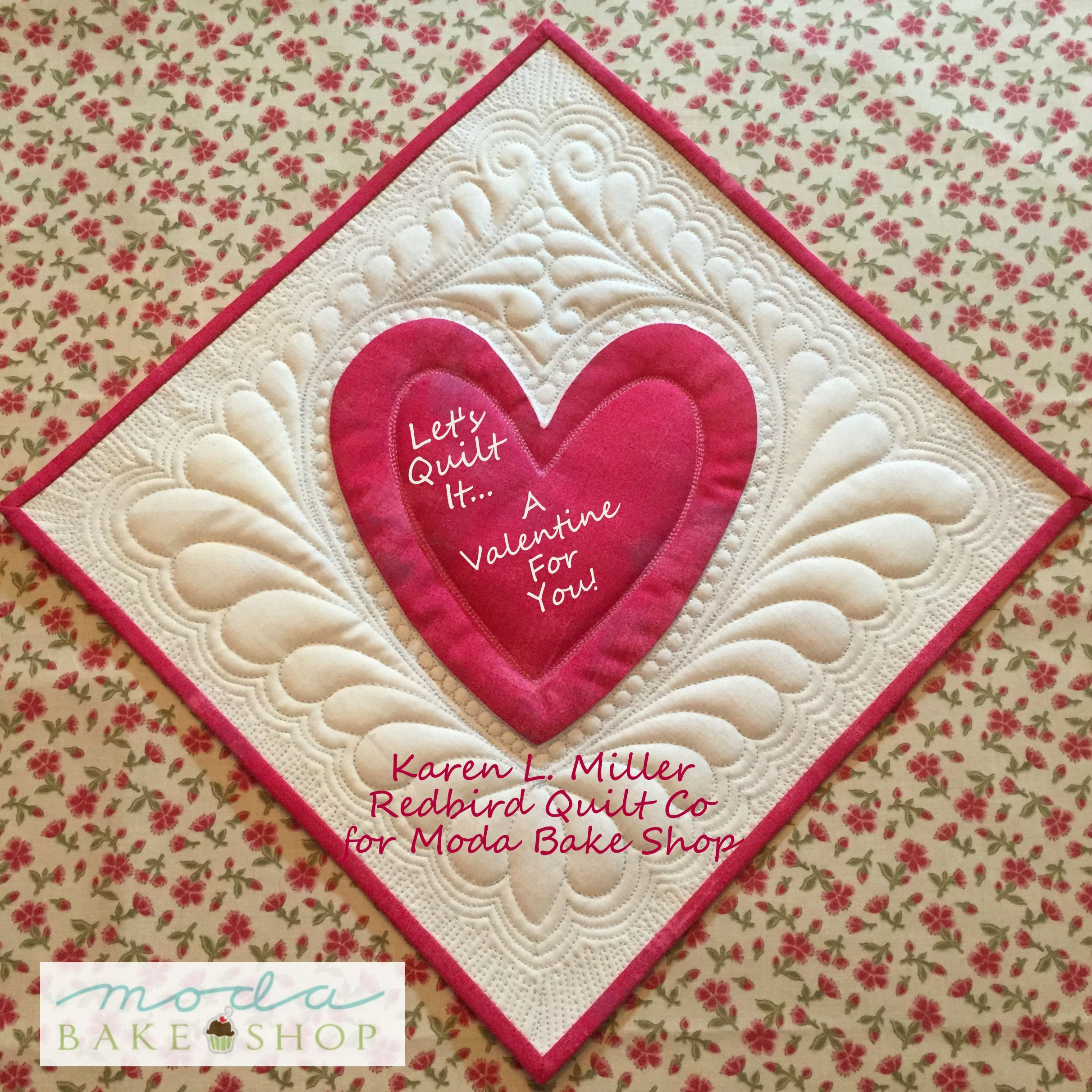 I am in love with Karen Miller of Redbird Quilt Co. 's stunning Valentine. If you've ever looked at Karen's quilting and thought, I want to do that... now is your chance! Karen's guest post on #ModaBakeShop gives all the tips you need to create a gorgeous free-motion quilted heart. She used French General and #ModaGrunge by BasicGrey fabrics for Moda Fabrics United Notions and both 40wt and 50wt Aurifil thread.  To view the full tutorial, please visit…