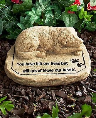 Memorial grave stone for pets cat or dog marker paw prints memories amazon pet supplies dog memorial stonememorial urnsmemorial garden workwithnaturefo