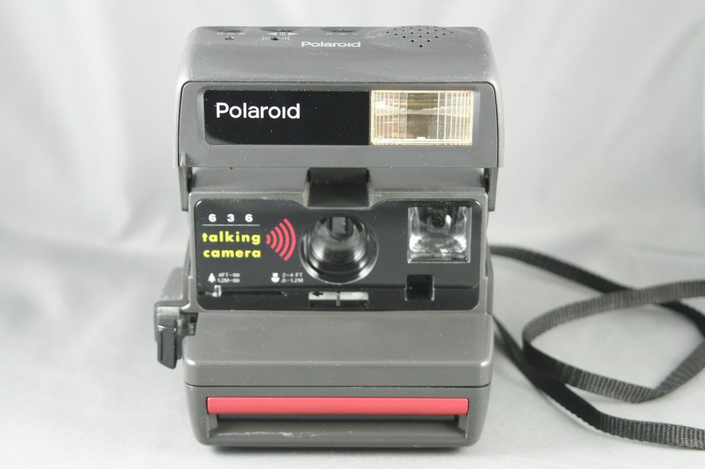 Polaroid 636 Talking Instant Camera Recordable Message With Case Tested Working Ebay Instant Camera Polaroid 636 Camera
