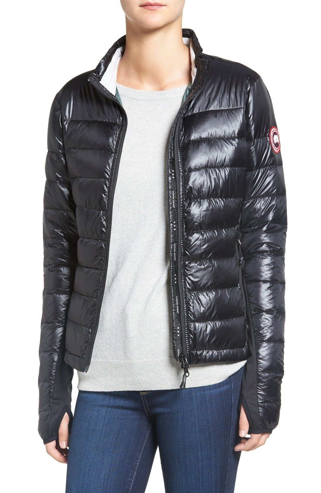 Canada Goose 'Hybridge Lite' Slim Fit Mixed Media Down Jacket available at #Nordstrom
