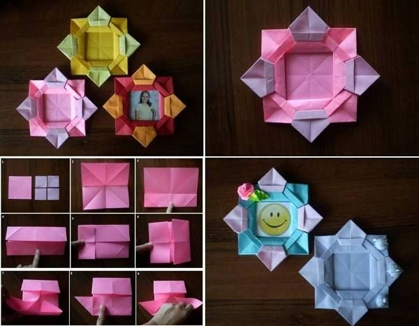 Learn How To Make Paper Flower Picture Frame - Find Fun Art Projects ...