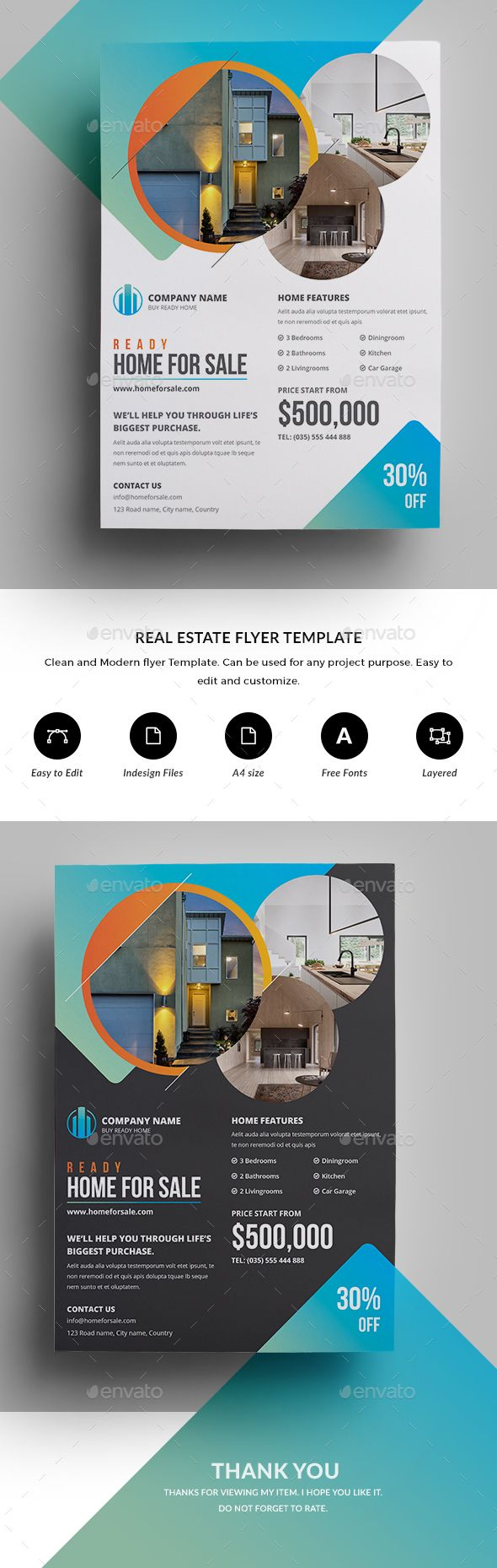 Real Estate Flyer  Real Estate Flyers Real Estate And Flyer Template