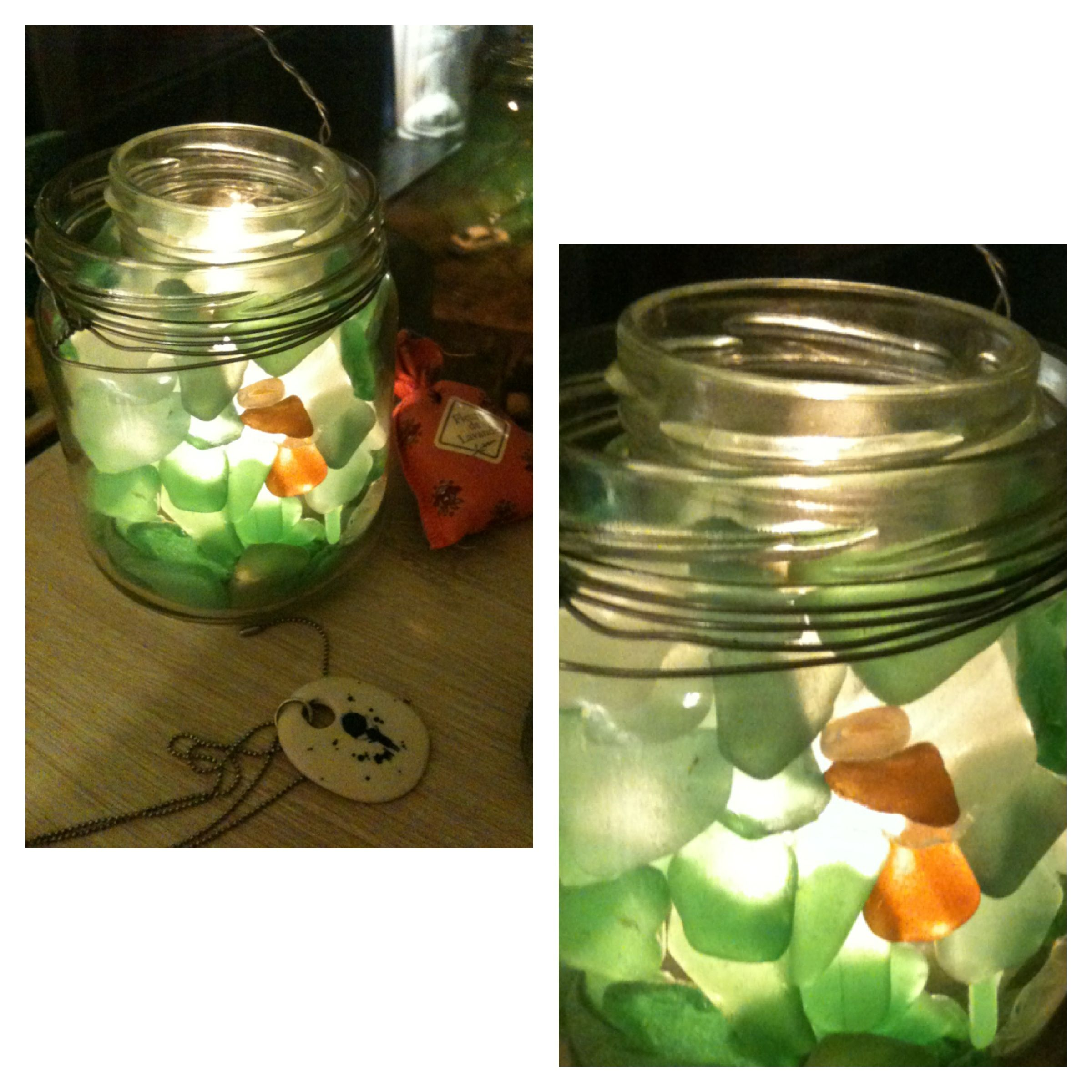 Great idea fora candlestick two mason jars one is smaller to put