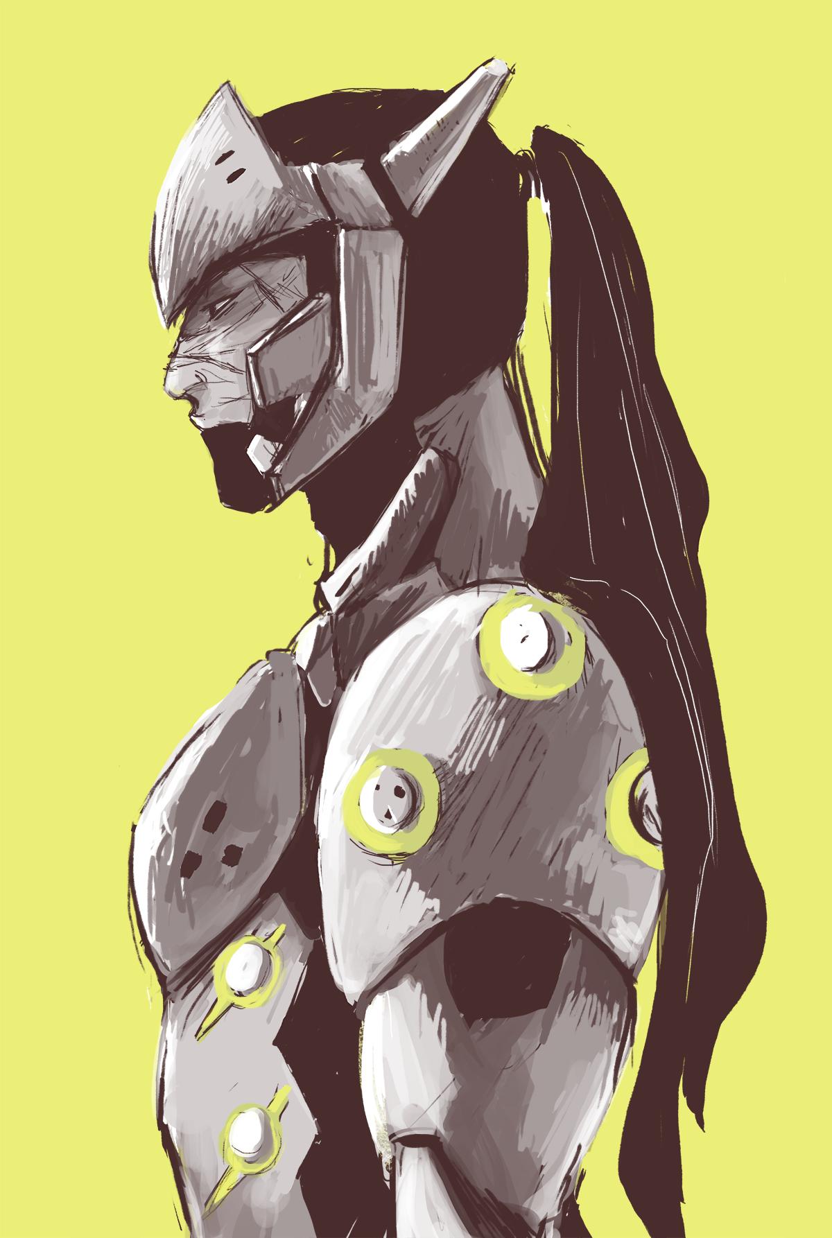 "kochei0: "" green cyborg ninja dude ""   Overwatch in 2019"
