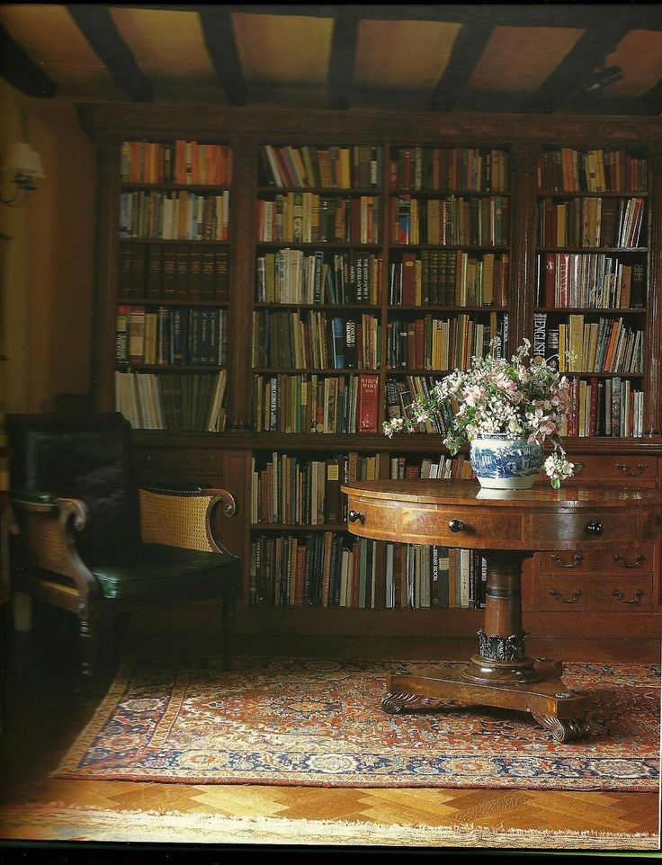 Cottage Home Library: English Cottage Interiors, Home