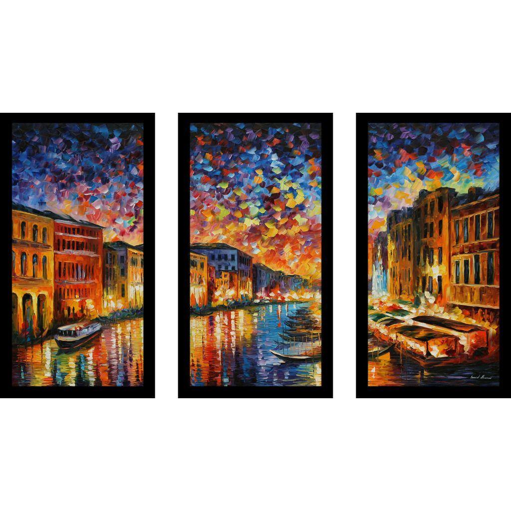 FramedCanvasArt.com Leonid Afremov  Venice Grand Canal  Framed Plexiglass Wall Art ...  sc 1 st  Pinterest & FramedCanvasArt.com Leonid Afremov