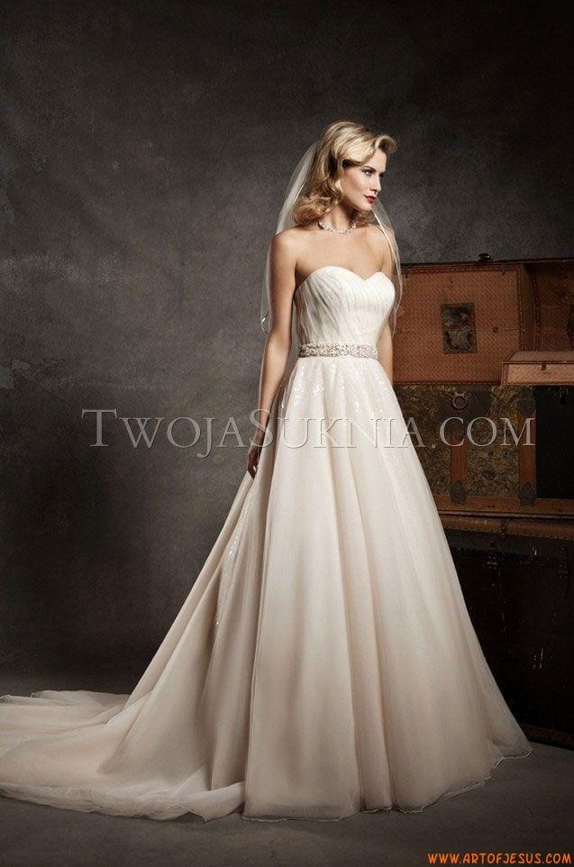 Glamouröse Herz-Ausschnitt A-linie Brautkleider aus Organza mit ...