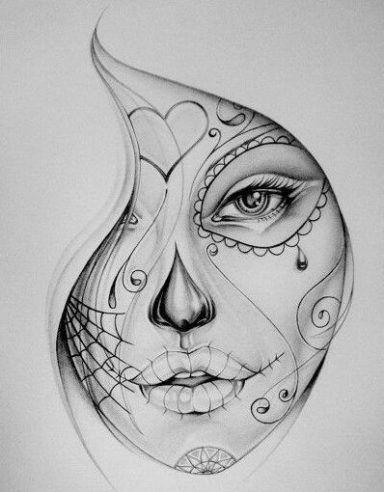 Diseno Para Hacer Tattoo fantástica colección de 50 bocetos o diseños de catrinas y calaveras
