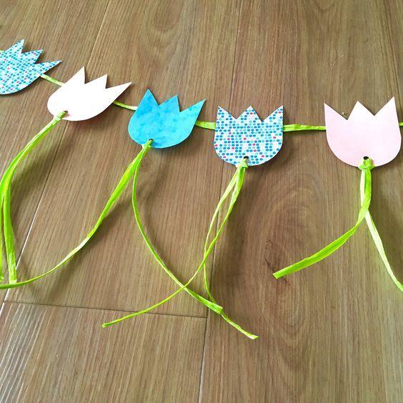 DIY: Flower Power Frühlingsdeko – Tulpengirlande