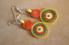 Sunburst Quilled Earring by SiyaArts on Etsy, $8.00