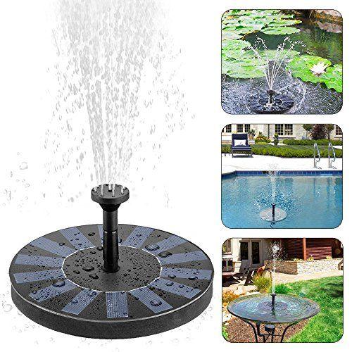 Fontaine solaire, ikalula Pompe à eau solaire Arrosage Extérieur - fontaine a eau exterieur solaire