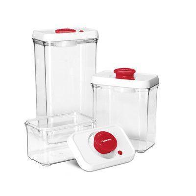 Cuisinart 6 Piece Fresh Edge Vacuum Seal Food Storage Container