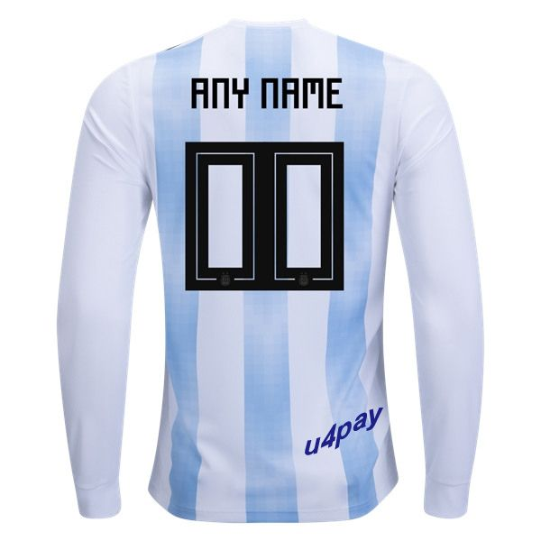 96894da2eeb super eagles jersey; 2018 fifa world cup argentina any name number long  sleeve home soccer jersey
