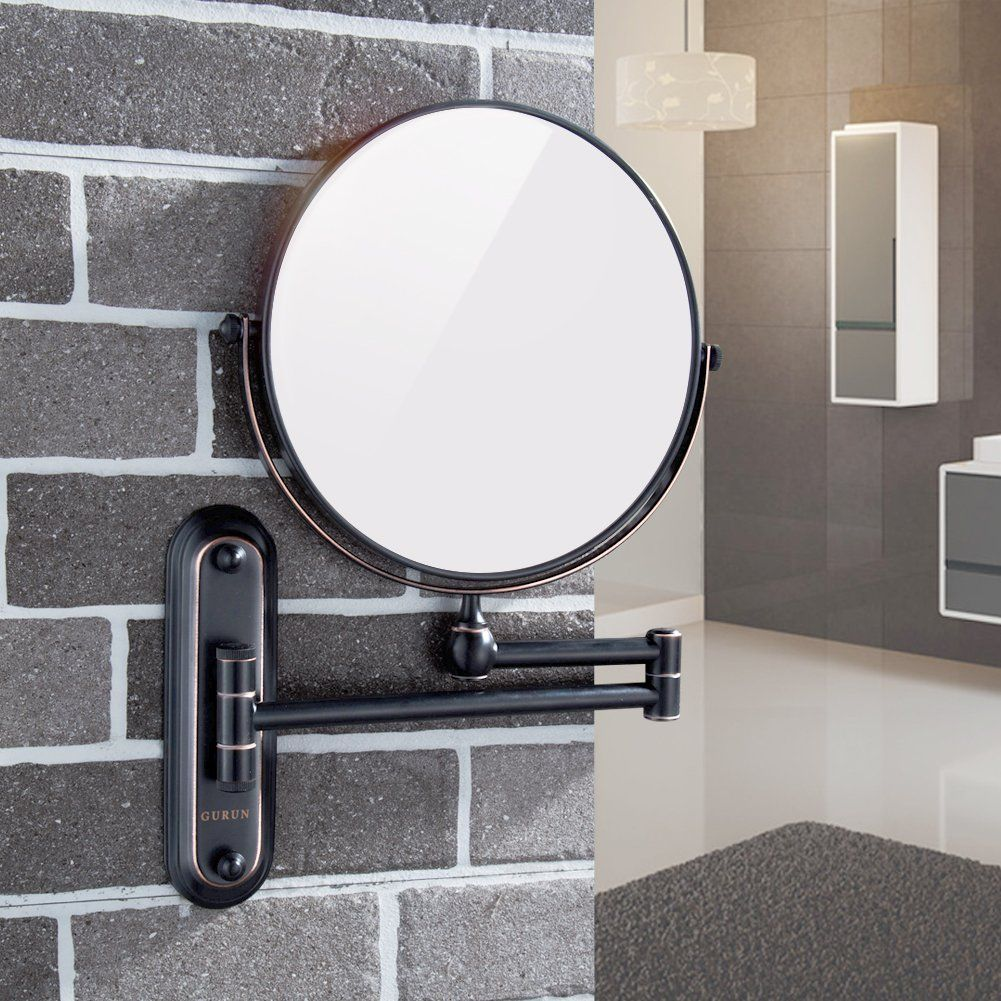 Gurun Mounted Mirror Magnification Oil Rubbed In 2020 Extendable Mirrors Shaving Mirror Wall Mounted Mirror