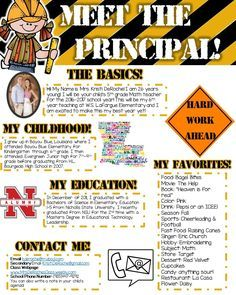 Meet The Principal Editable Construction  Principal School And