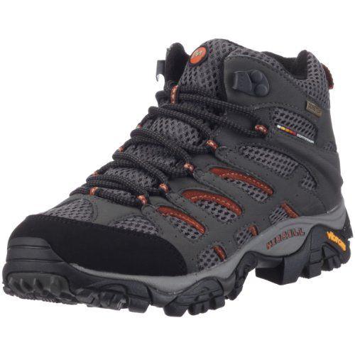 Merrell AZURA MID GTX - Zapatos de senderismo de cuero mujer, color gris, talla 42