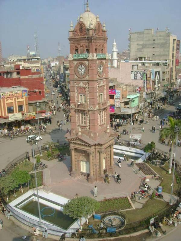 Faisalabad Clock Tower Chowk (Ghanta Ghar ), Faisalabad | love